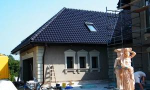 Domy jednorodzinne - Sztukateria Elewacyjna DJ 44