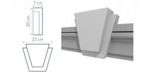Blok zdobniczy kątowy B3