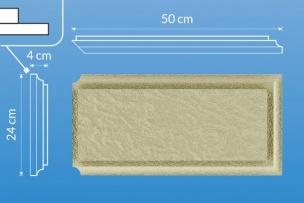 Bonia narożna strukturalna BN9W - 50