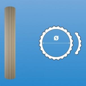 Rdzeń kolumny karbowanej (otulina) RK 2