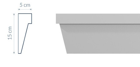 Modernistic Cornice GM17