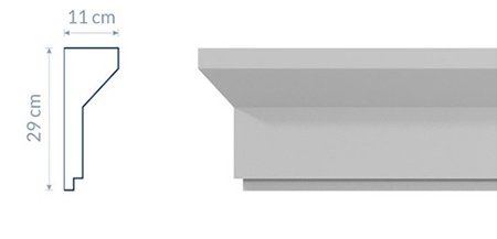 Modernistic Cornice GM18