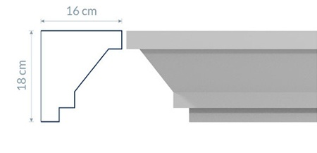 Modernistic Cornice GM5
