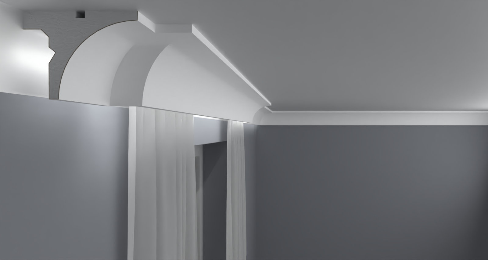 Curtain Moulding KS08