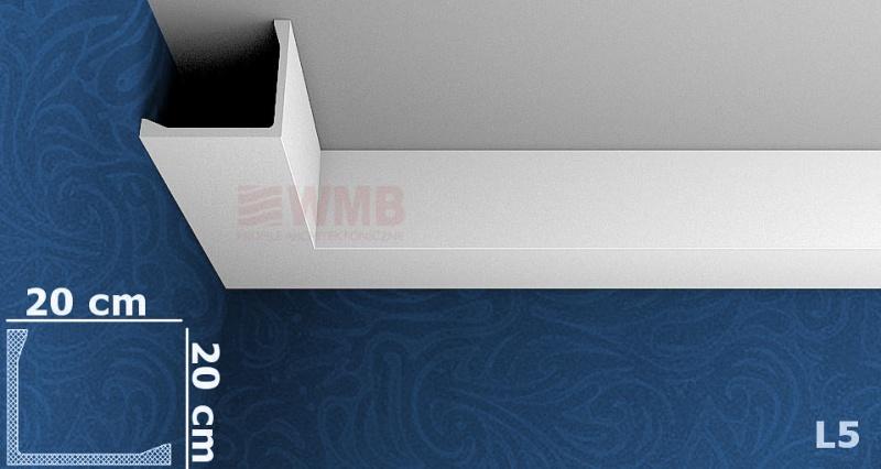 deckenleiste l5 stuckfassade wmb hersteller von stuckprofilen. Black Bedroom Furniture Sets. Home Design Ideas