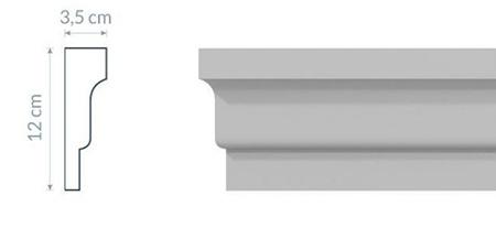 Listwa styropianowa elewacyjna L8