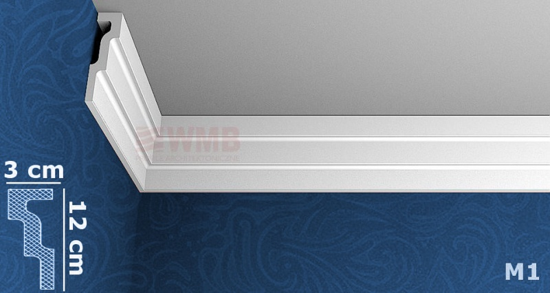 styropor leiste m1 stuckfassade wmb hersteller von stuckprofilen. Black Bedroom Furniture Sets. Home Design Ideas