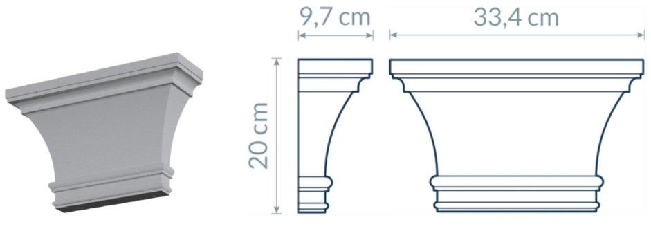 Pilaster-Head PG3