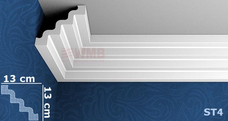 styropor leiste st4 stuckfassade wmb hersteller von stuckprofilen. Black Bedroom Furniture Sets. Home Design Ideas