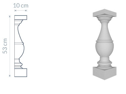 Decorative Baluster TR2