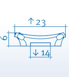 Wizualizacja produktu Pilaster Head K201