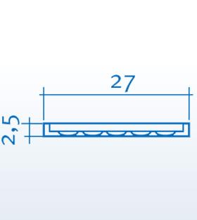 Wizualizacja produktu Pilaster K250