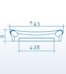 Wizualizacja produktu Pilaster Head K251