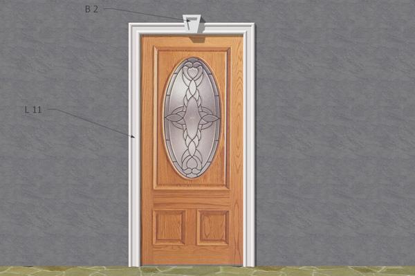 Wizualizacja produktu Наборы фасадная лепные украшения ZO24