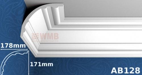 Wizualizacja produktu Listwa sufitowa MDB128
