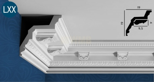 Wizualizacja produktu Decor for the Ceiling Moulding C307A