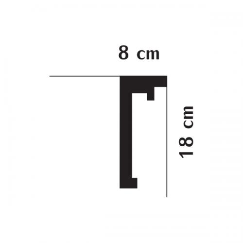 Wizualizacja produktu Listwa karniszowa QL016