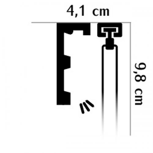 Wizualizacja produktu Curtain Moulding QL026