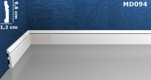 Wizualizacja produktu Listwa podłogowa HD MD094