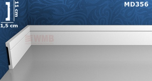 Wizualizacja produktu Listwa podłogowa HD MD356