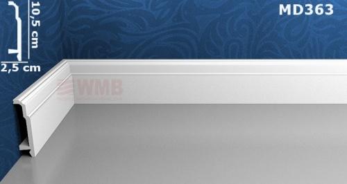 Wizualizacja produktu Listwa podłogowa HD MD363
